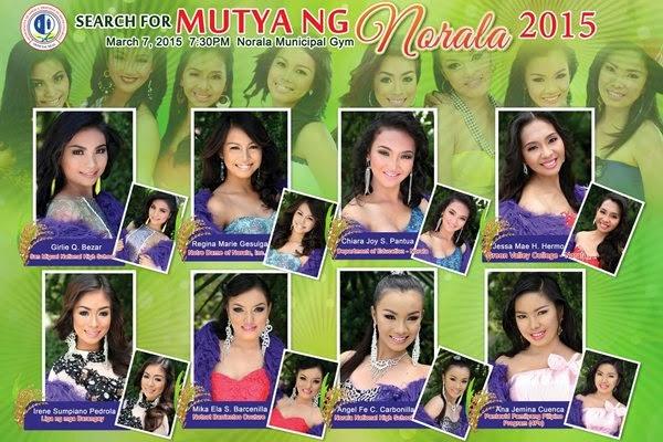 Mutya ng Norala 2015 candidates
