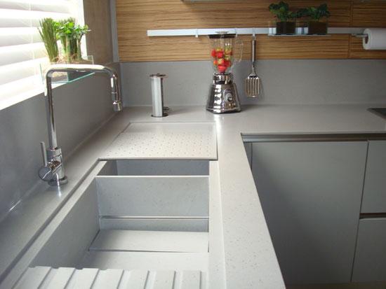 Dica da Arquiteta Cozinha Tipos de bancada # Bancada De Cozinha Feita De Porta