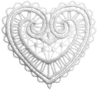 lace heart white png transparent for scrapbooking free download