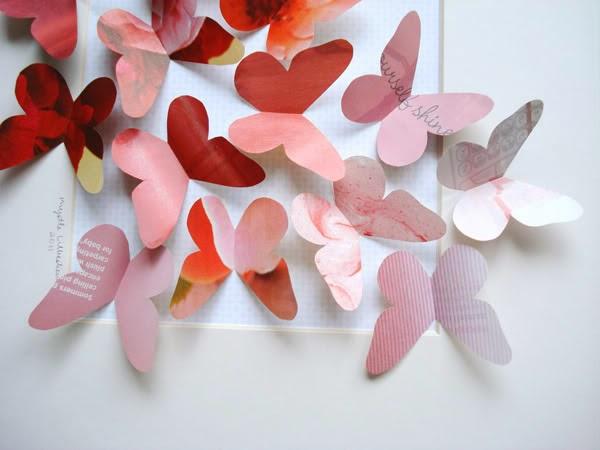 La mariposa de origami - Como hacer mariposas de papel para decorar paredes ...