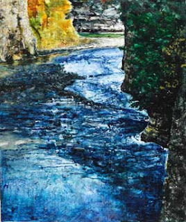 Painting of the Genesee River.