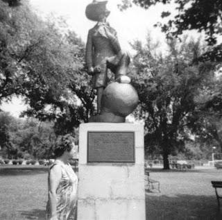 Andy Gump Statue circa 1965