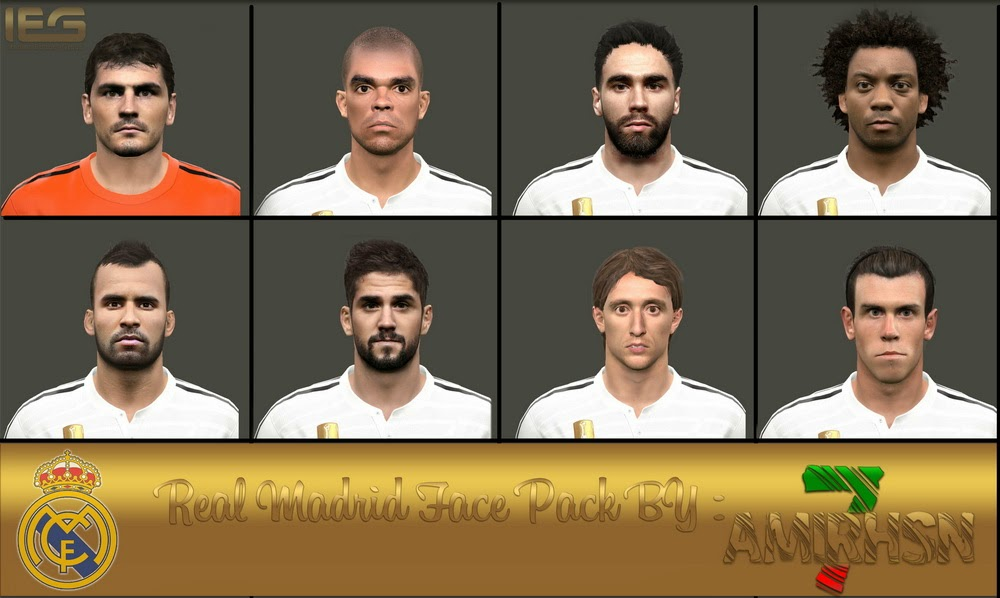 PES 2015 Real Madrid Face Pack by Amir.Hsn7