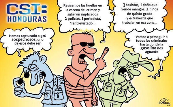 Caricatura investigadores hondureños
