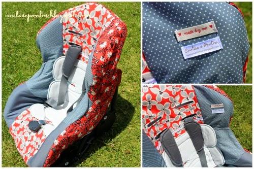 capa de cadeira auto em tecido