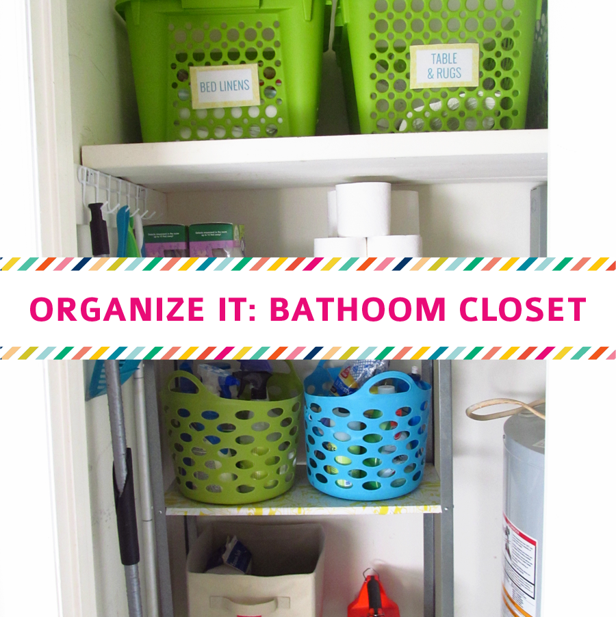 Organize It Bathroom Closet The House On Hillbrook - Bathroom closet organization ideas