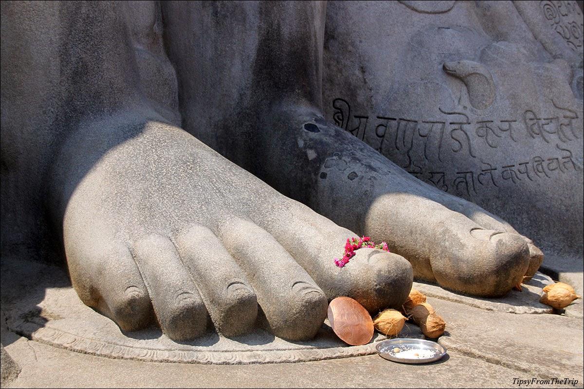 Bahubali Gomateshwara statue feet