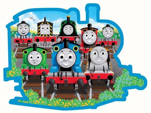 Cartoon Thomas the Tank Engine and Friends