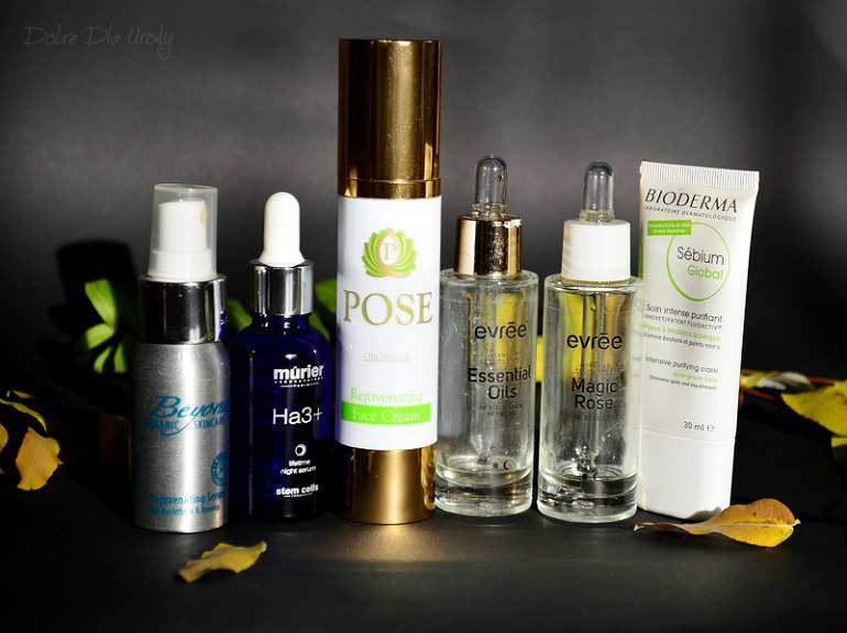 serum Beyond Organic, Serum Murier, Pose krem organiczny, Evree Olejki do twarzy, Bioderma Sebium