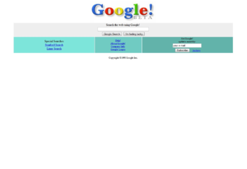 sejarah mesin pencarian google