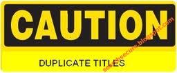 Cara mengatasi duplicate title tags