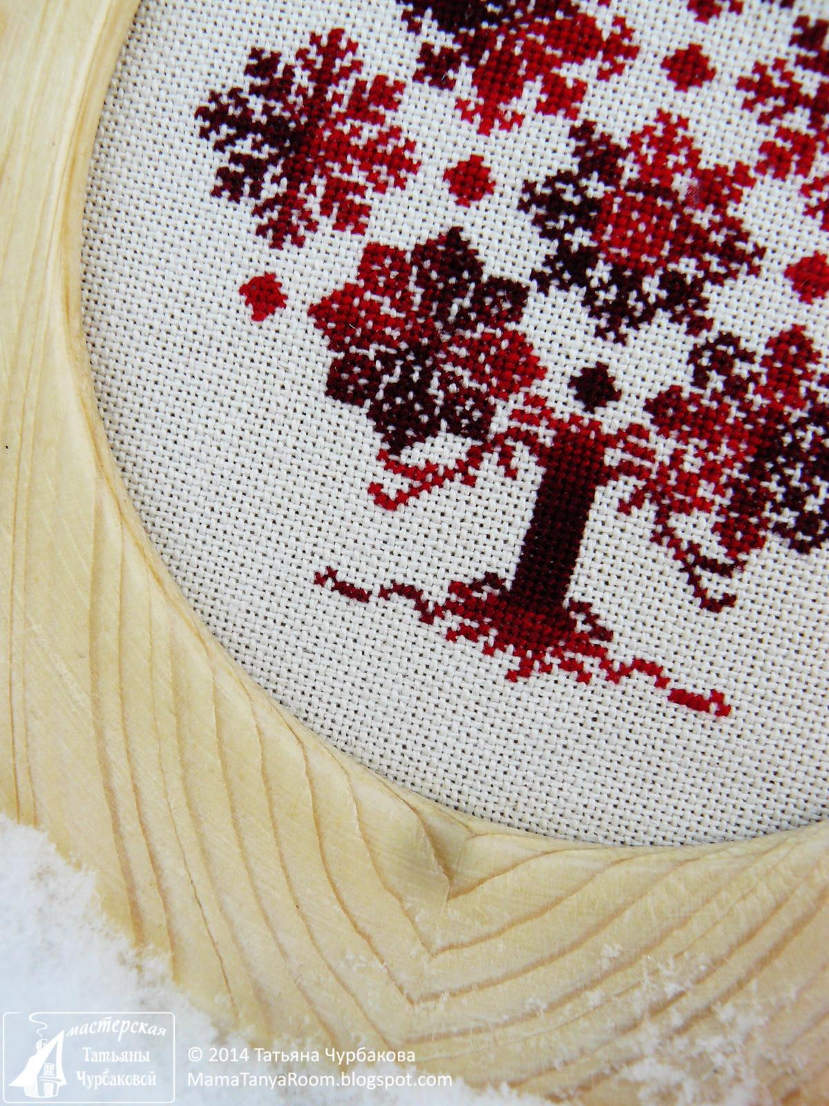 вышивка дерево из снежинок дизайн The Cricket Collection