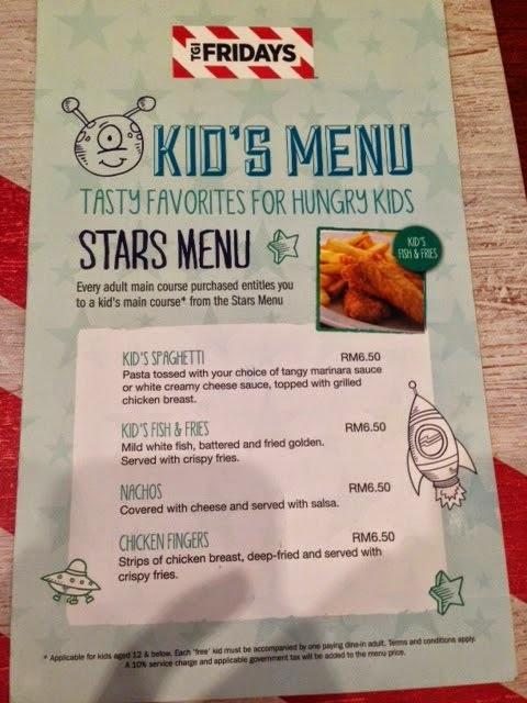 Tgi fridays kids food