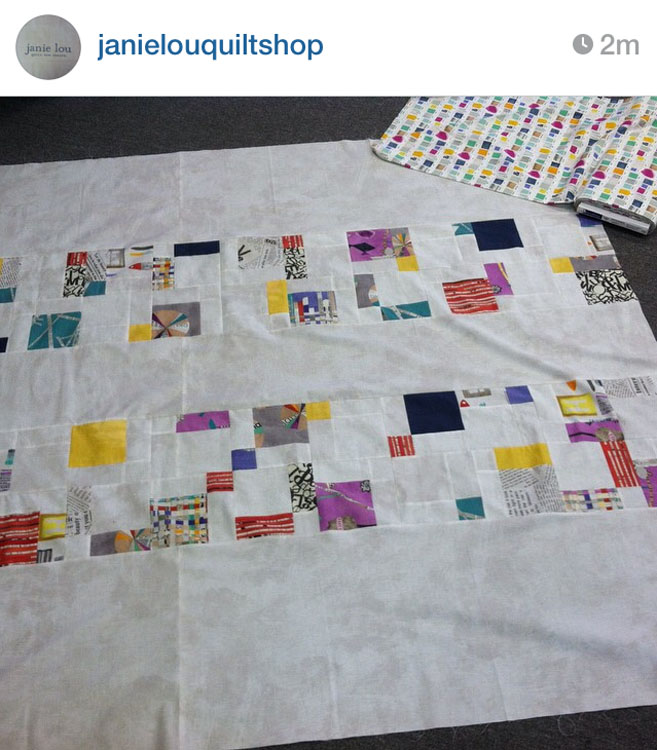 PARALLEL Quilt - Made by @JanieLouQuiltShop // Pattern by Kristy Daum