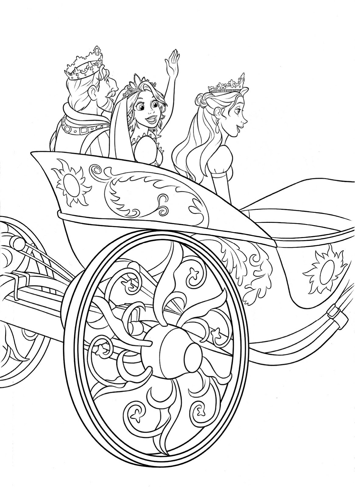 Free Coloring Pages Of Rapunzel 13