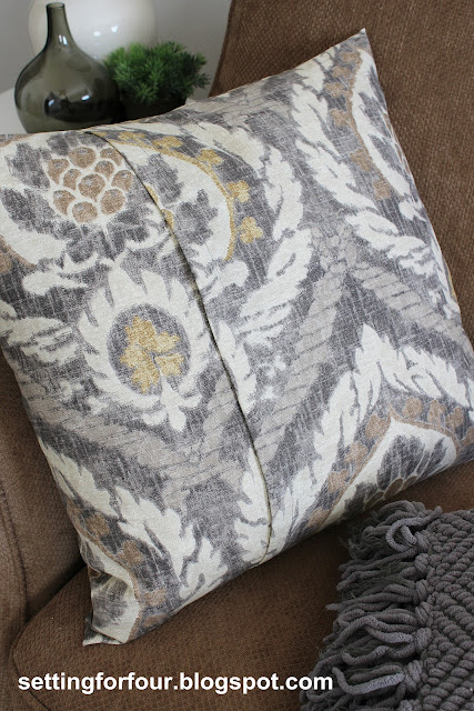 DIY Pillow Ballard Designs Knockoff from Setting for Four #diy #tutorial #ballard #pillow #scandicci #gray #knockoff #decor #design