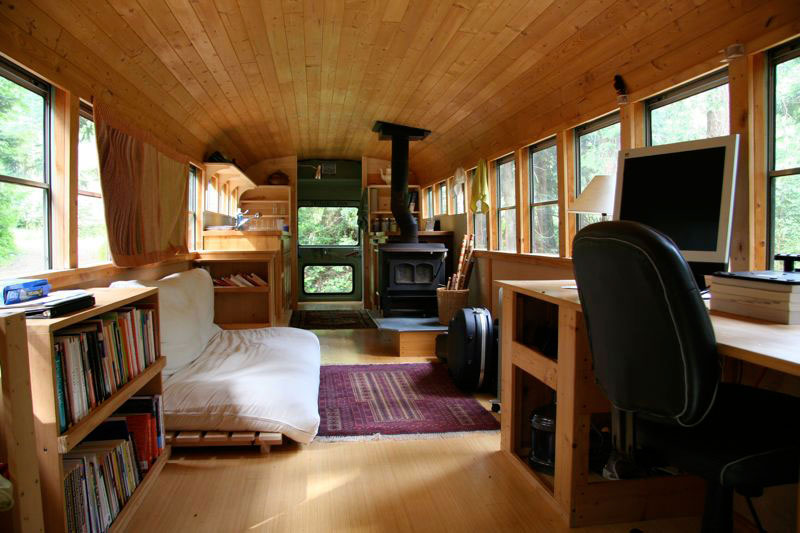 School Bus Converted into Home 800 x 533