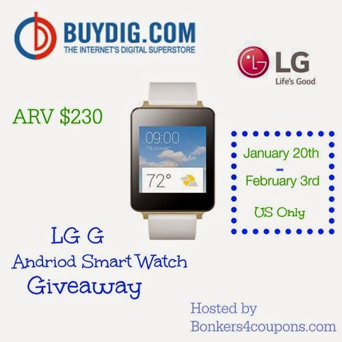 LG G Smart Watch #Giveaway