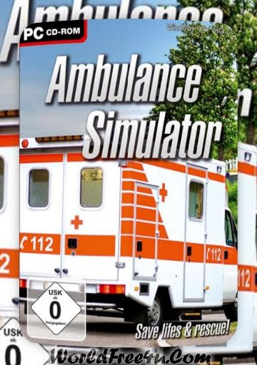 Cover Of Ambulance Simulator Full Latest Version PC Game Free Download Mediafire Links At worldfree4u.com