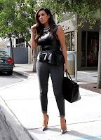 Kim Kardashian waiting for her car