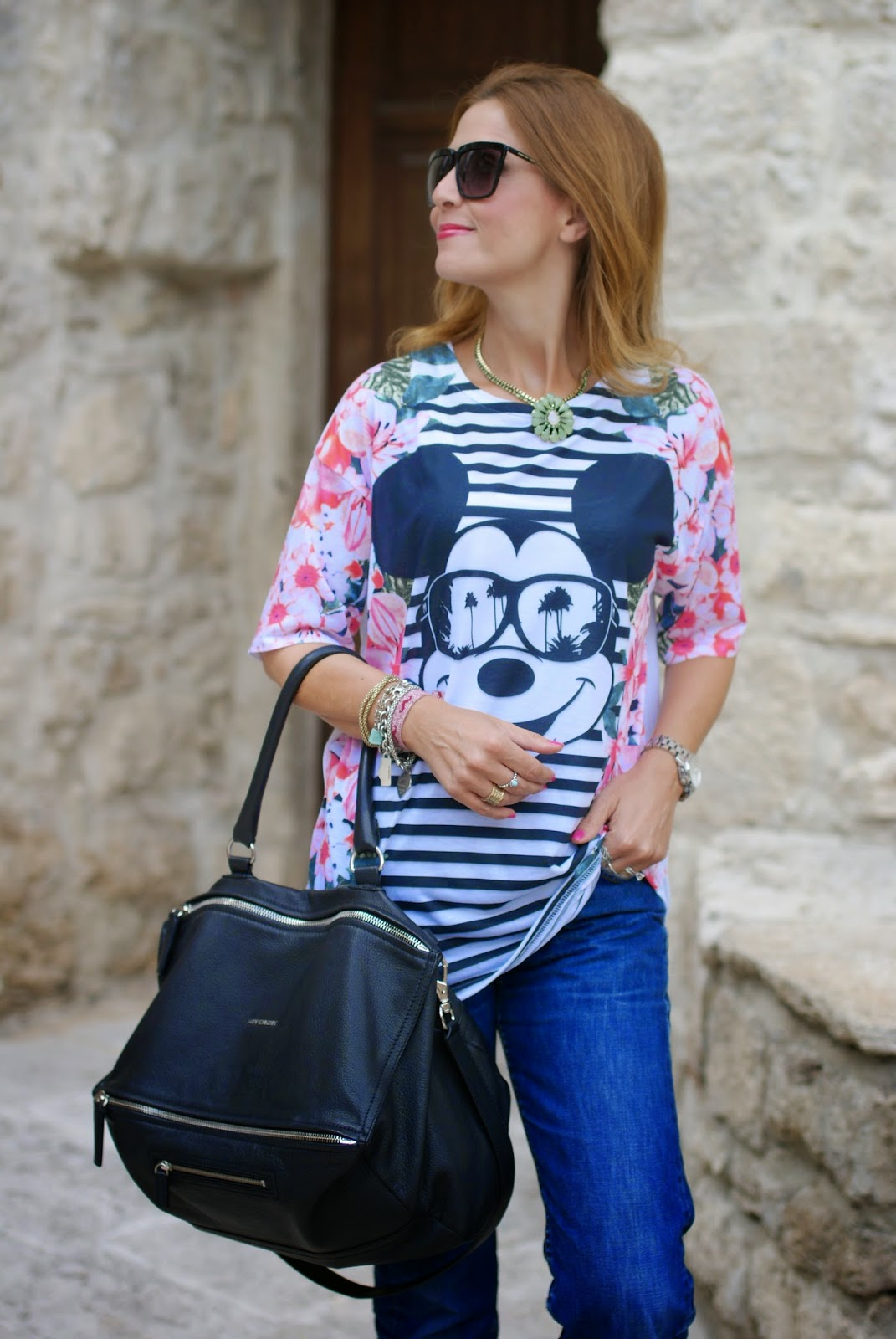 asos mickey mouse t-shirt, vintage levi's 501,  Givenchy Pandora large, Fashion and Cookies, fashion blogger