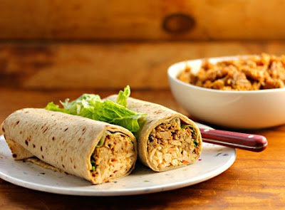 Slow Cooker Coffee-Chipotle Pulled Chicken Roll-Ups