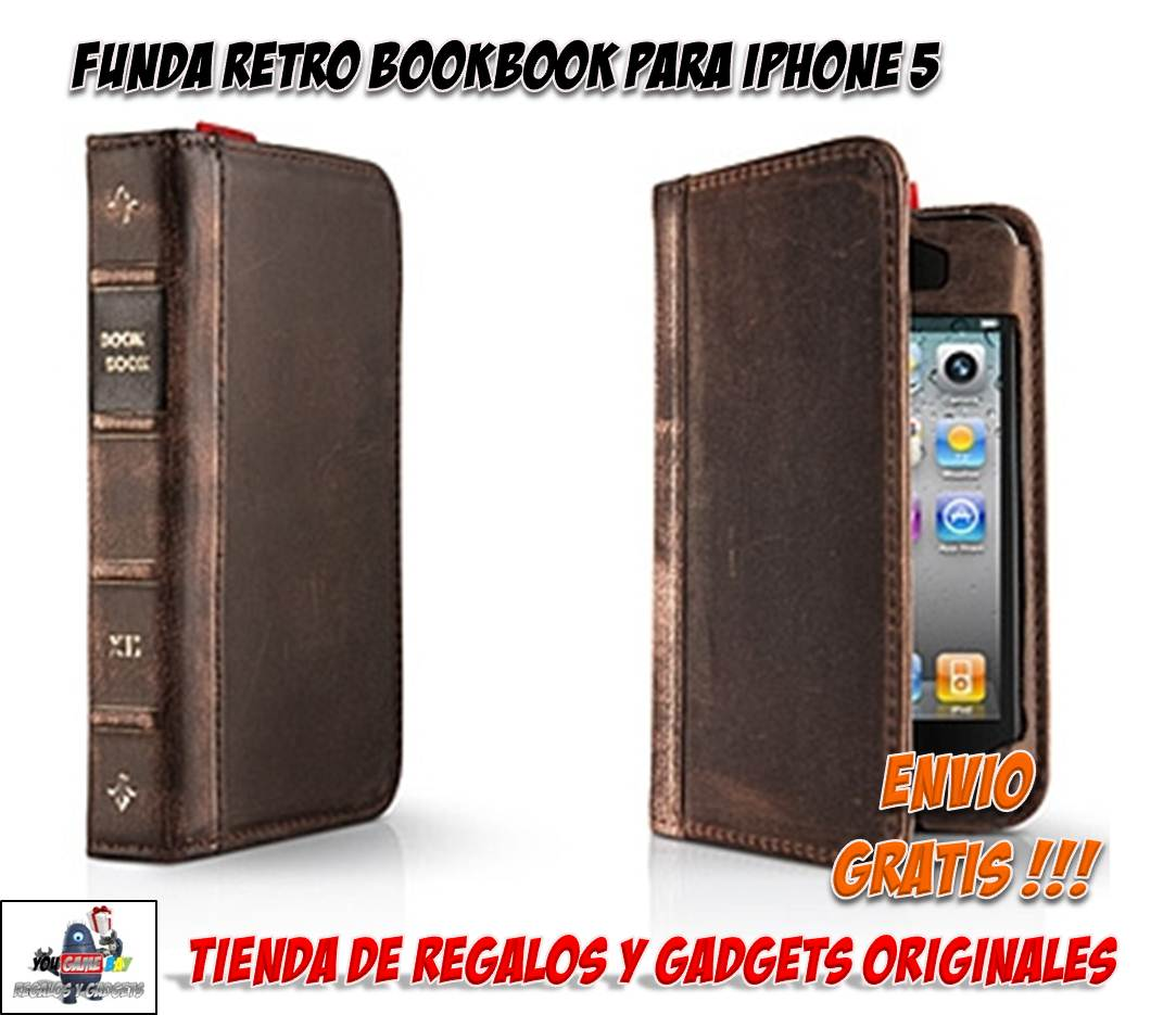 Funda retro iphone 5 funda con forma de libro antiguo para iphone - Fundas iphone 5 divertidas ...