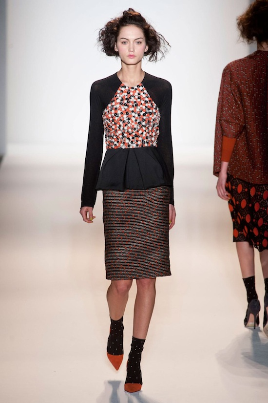 Lela Rose Fall 2013 runway look 2