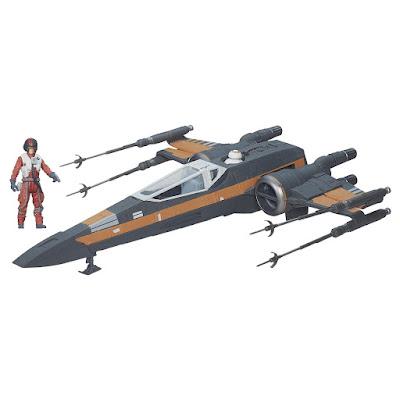 TOYS : JUGUETES - STAR WARS 7  Poe's X-Wing Fighter | Nave + Figura - Muñeco El Despertar de la Fuerza - The Force Awakens Película Disney 2015 | Hasbro B3953 | A partir de 4 años Comprar en Amazon España & buy Amazon USA