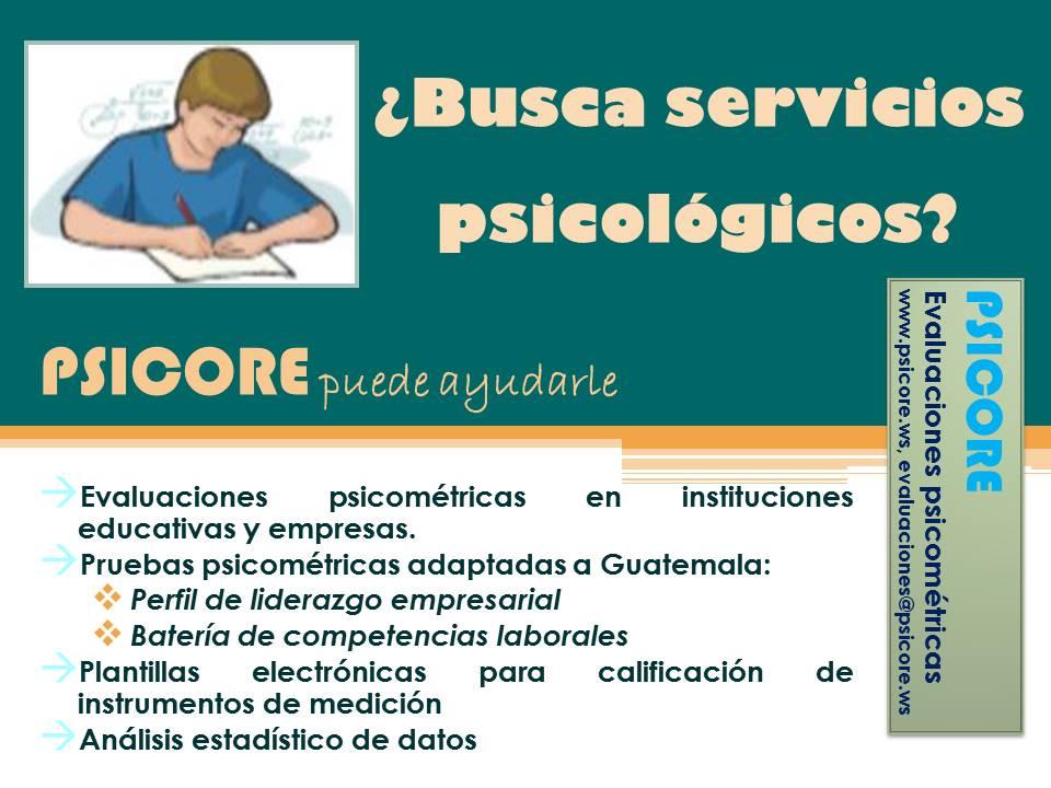 ¿Busca servicios psicológicos?