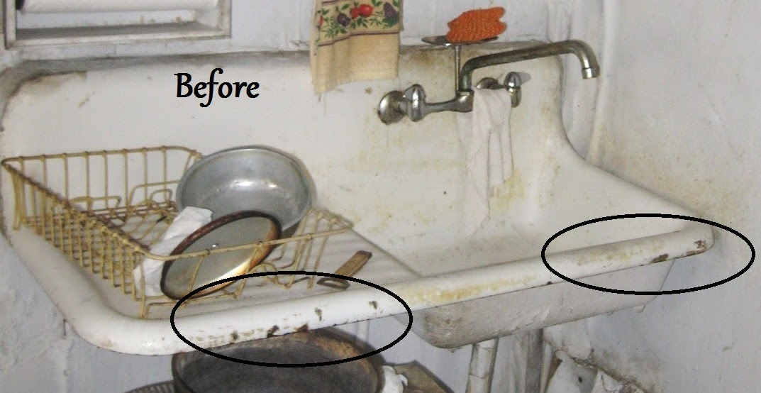 How To Patch Porcelain On Old Fixtures Mom And Her Drill