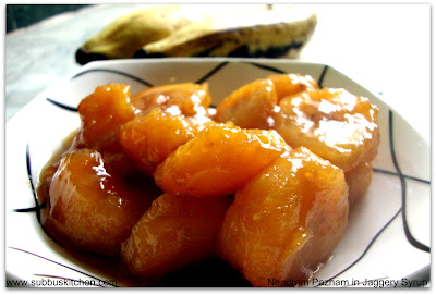 Ripe Plantains in Jaggery syrup
