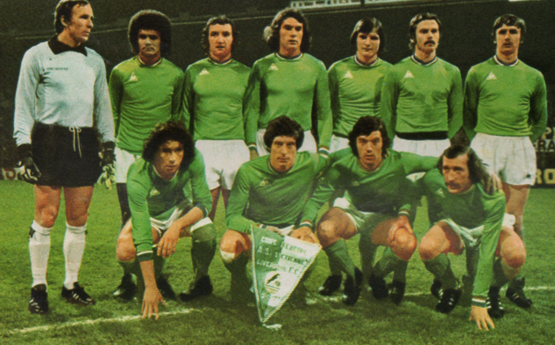 fritz the flood european cup 1976 1977 liverpool as st etienne both legs. Black Bedroom Furniture Sets. Home Design Ideas