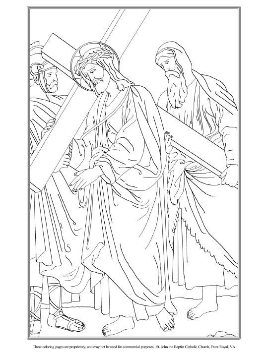 El Cirineo ayuda a Jesús a llevar la cruz