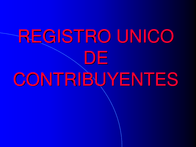 inscripcion en el registro unico de contribuyentes