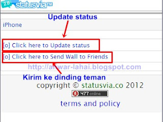update status via iPhone BB2 Cara Update Status Via Android Asli