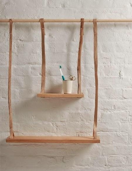 Prateleira rustica de madeira