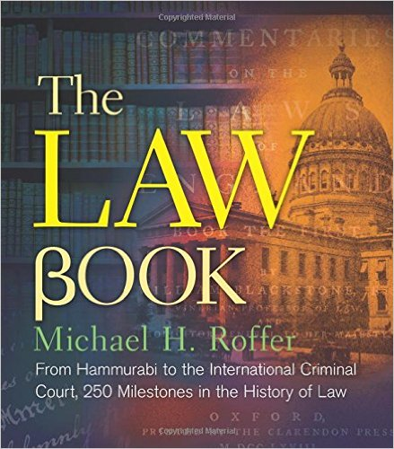 Legal History Blog Roffer S Quot The Law Book Quot