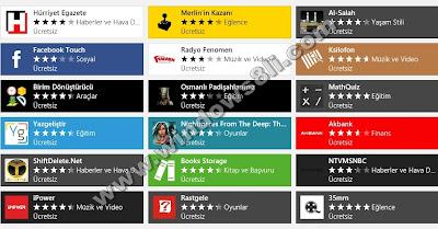 Windows 8 Mağaza Uygulamalar