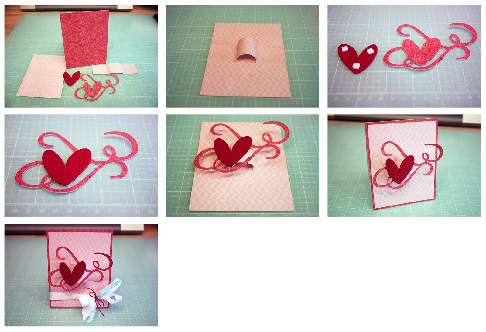 Bits of Paper A2 Swirly Heart PopUp Card – How to Make Pop Up Valentine Cards