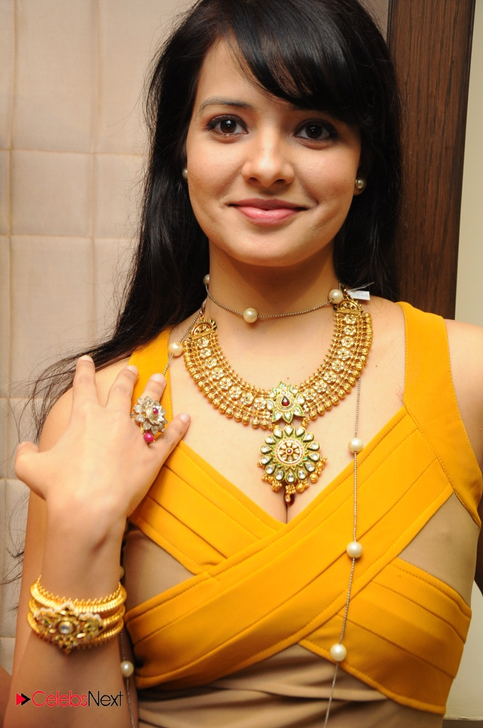 Saloni Latest Photos in Yellow Short Dress at Hiya Jewellery
