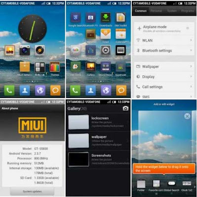 MIUI 2.4.20 Custom ROM final for Galaxy Gio GT S5660
