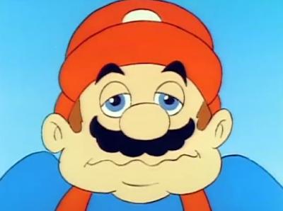 Mario silly face facial expression