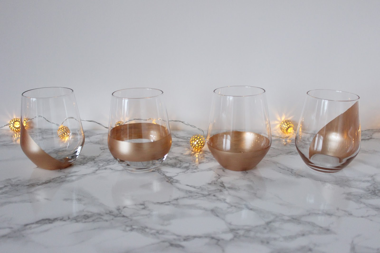 copper glasses diy