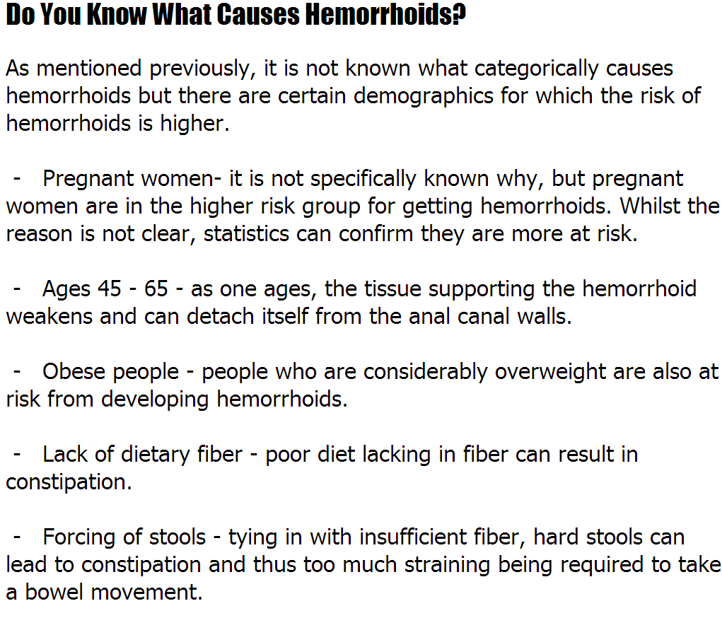 Hemorrhoids Remedy