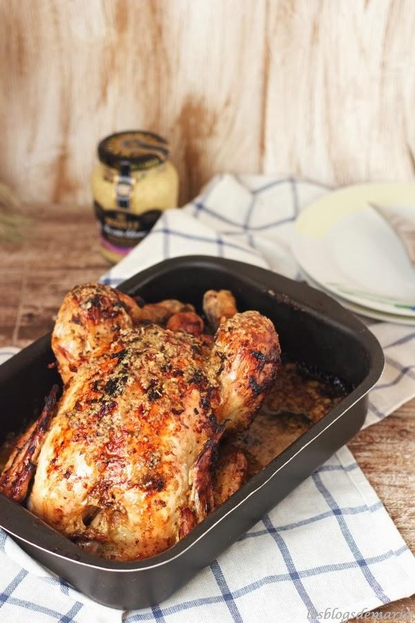 Pollo a la mostaza de vino