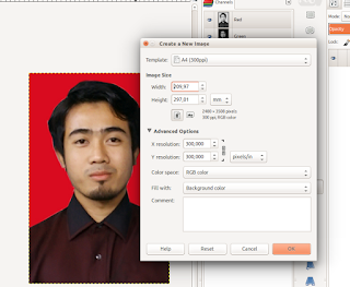 membuat dokumen baru untuk cetak photo