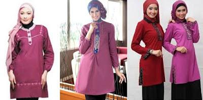 baju tunik muslim modern