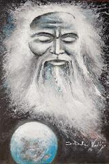 Art Esoterico SVG.titulo:La Compasion-.mixto sobre madera