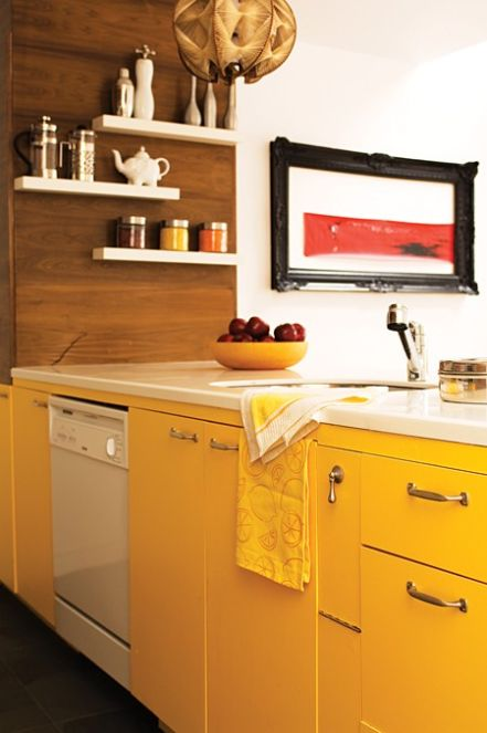 Yellow Kitchen Cabinets Cool Of Bright Yellow Kitchen Cabinets Photos